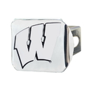 Fanmats 15091 Wisconsin Chrome Hitch Cover 3.4