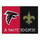 Fanmats 15553 NFL - Falcons - Saints House Divided Rug 33.75