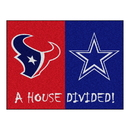 Fanmats 15556 NFL - Texans - Cowboys House Divided Rug 33.75