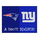 Fanmats 15557 NFL - Patriots - Giants House Divided Rug 33.75