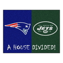 Fanmats 15558 NFL - Patriots - Jets House Divided Rug 33.75
