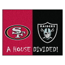 Fanmats 15559 NFL - 49ers - Raiders House Divided Rug 33.75