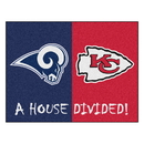 Fanmats 15560 NFL - Rams - Chiefs House Divided Rug 33.75