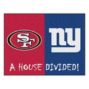 Fanmats 15596 NFL - 49ers - Giants House Divided Rug 33.75