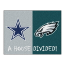 Fanmats 15665 NFL - Cowboys - Eagles House Divided Rug 33.75