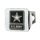 Fanmats 15691 Army Chrome Hitch Cover 3.4
