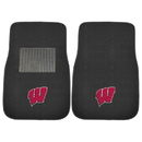 Fanmats 17597 Wisconsin 2-pc Embroidered Car Mats 17