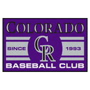 Fanmats 18467 Colorado Rockies Baseball Club Starter Rug 19