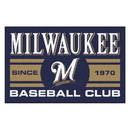 Fanmats 18474 Milwaukee Brewers Baseball Club Starter Rug 19