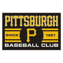 Fanmats 18480 Pittsburgh Pirates Baseball Club Starter Rug 19