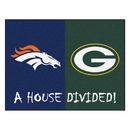 Fanmats 18572 NFL Broncos - Packers House Divided Rug 33.75