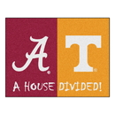 Fanmats 18673 Alabama - Tennessee House Divided Rug 33.75