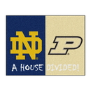 Fanmats 18678 Notre Dame - Purdue House Divided Rug 33.75