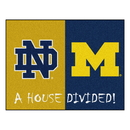 Fanmats 18679 Notre Dame - Michigan House Divided Rug 33.75