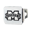 Fanmats 19242 Mississippi State Chrome Hitch Cover 3.4