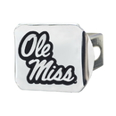 Fanmats 19243 Ole Miss Chrome Hitch Cover 3.4