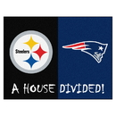 Fanmats 19245 NFL - Steelers - Patriots House Divided Rug 33.75