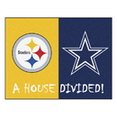 Fanmats 19316 NFL - Steelers - Cowboys House Divided Rug 33.75
