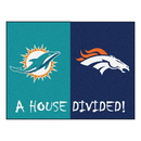 Fanmats 19673 NFL - Dolphins - Broncos House Divided Rug 33.75