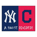 Fanmats 20350 MLB - Yankees - Indians House Divided Rug 33.75