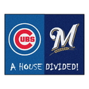 Fanmats 20399 MLB - Cubs - Brewers House Divided Rug 33.75