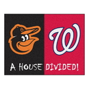 Fanmats 20403 MLB - Orioles - Nationals House Divided Rug 33.75