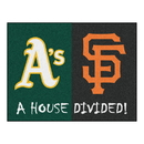 Fanmats 20405 MLB - Athletics - Giants House Divided Rug 33.75