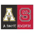 Fanmats 20502 NC State - Appalachian State Divided Rug 33.75