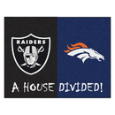 Fanmats 20556 NFL - Broncos - Raiders House Divided Rug 33.75