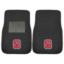Fanmats 20785 NC State 2-pc Embroidered Car Mats 17