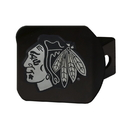 Fanmats 20993 NHL - Chicago Blackhawks Black Hitch Cover 3.4