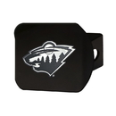 Fanmats 21007 NHL - Minnesota Wild Black Hitch Cover 3.4