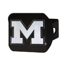 Fanmats 21038 Michigan Black Hitch Cover 3.4