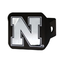 Fanmats 21041 Nebraska Black Hitch Cover 3.4