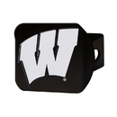 Fanmats 21055 Wisconsin Black Hitch Cover 3.4