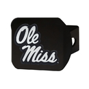 Fanmats 21056 Ole Miss Black Hitch Cover 3.4