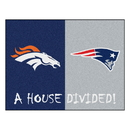 Fanmats 21257 NFL - Broncos / Patriots House Divided Rug 33.75