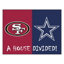 Fanmats 21677 NFL - 49ers - Cowboys House Divided Rug 33.75