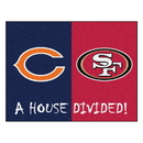 Fanmats 21860 Bears - 49ers House Divided Rug 33.75