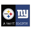 Fanmats 21886 NFL - Steelers - Giants House Divided Rug 33.75