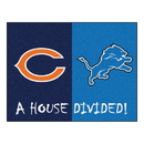 Fanmats 21908 NFL - Bears - Lions House Divided Rug 33.75