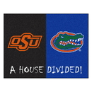 Fanmats 22004 Oklahoma State - Florida House Divided Rug 33.75