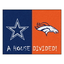 Fanmats 22005 NFL - Cowboys - Broncos House Divided Rug 33.75