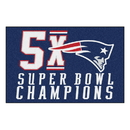 Fanmats 22273 NFL - New England Patriots 5X Super Bowl Champs Starter Rug 19