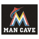 Fanmats 22429 MLB - Miami Marlins Man Cave Tailgater Rug 59.5