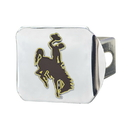 Fanmats 22646 University of Wyoming Color Hitch Chrome 3.4
