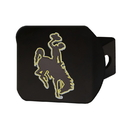 Fanmats 22647 University of Wyoming Color Hitch Black 3.4