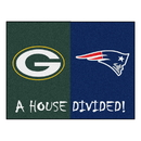 Fanmats 22660 NFL - Packers - Patriots House Divided Rug 33.75