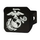 Fanmats 22698 U.S. Marines Black Hitch Cover 4 1/2