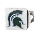 Fanmats 22703 Michigan State University Color Hitch Chrome 3.4